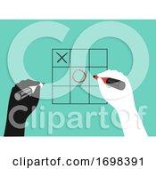 Poster, Art Print Of Hands Icebreaker Tic Tac Toe Illustration