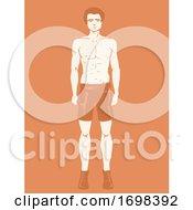 Poster, Art Print Of Man Model Illustration