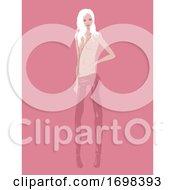 Poster, Art Print Of Man Androgyny Model Illustration