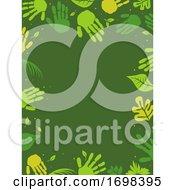 Poster, Art Print Of Hands Nature Green Frame Background Illustration