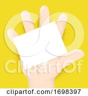 Hand Right Card Palm Board Illustration