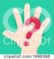 Poster, Art Print Of Hand Kid Question Mark Illustration