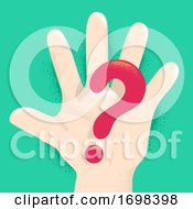 Hand Kid Question Mark Illustration