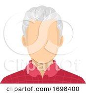 Senior Man Blank Face Illustration