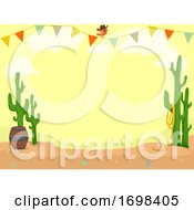 Party Cowboy Theme Desert Buntings Illustration
