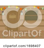 Party Cabin Theme Buntings Background Illustration