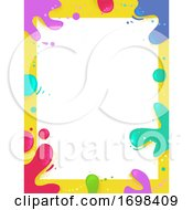 Poster, Art Print Of Paint Splat Colors Frame Background Illustration