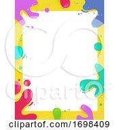 Paint Splat Colors Frame Background Illustration