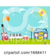 Music 123 Learning Background Illustration
