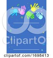 Hands Prints Poster Background Illustration
