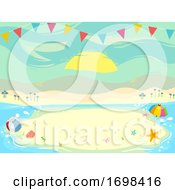 Beach Party Buntings Background Illustration