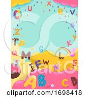 Alphabet Sweets Colors Background Illustration