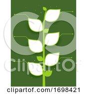 Plant Leaves Template Frame Illustration