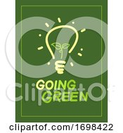 Going Green Light Bulb Illustration