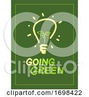 Going Green Light Bulb Illustration