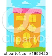 Building Basic Shapes Windows Door Illustration