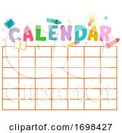 Calendar Template School Design Illustration