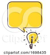 Poster, Art Print Of Light Bulb Idea Information Illustration
