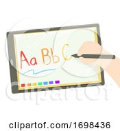 Hand Kid Gadget Education Illustration