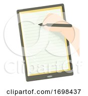 Hand Kid Gadget Education Pen Paper Illustration