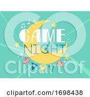 Game Night Party Design Illustration