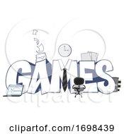 Games At Work Design Illustration