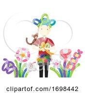 Man Balloon Modelling Artist Job Illustration