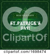Patricks Day Greetings In Frame Irish Holiday