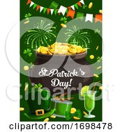 Ireland Patricks Day Fest Fireworks Shamrock