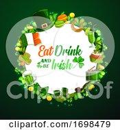 St Patricks Day Holiday Frame On Green
