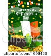 Irish Shamrock Gold And Flag Patricks Day