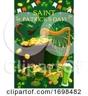 Irish Leprechaun Gold Green Shamrock Patrick Day