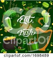 Irish Food Drink Music On Patrick Day Horseshoe