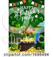Leprechaun St Patricks Shamrock And Pot Of Gold