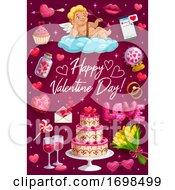 Greetings On Valentines Day Passion Love Symbols