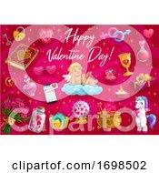 Valentines Day Love Hearts Cupid Angel Unicorn