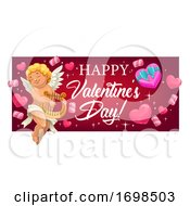 Poster, Art Print Of Cupid Valentines Day Banner