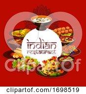 Poster, Art Print Of Authentic Indian Cuisine Restaurant Menu Cover