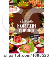 Poster, Art Print Of Authentic Korean Cuisine Food Dishes Cafe Menu