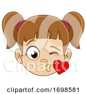 Poster, Art Print Of Girl Blowing A Kiss
