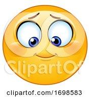 Poster, Art Print Of Yellow Smiley Emoji Looking Down