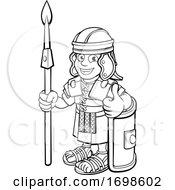 Roman Soldier Cartoon Character