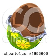 Poster, Art Print Of Easter Egg Chocolate Broken Open