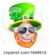 St Patricks Day Leprechaun Sunglasses Cartoon