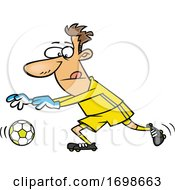 Cartoon Soccer Goalkeeper