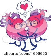 01/29/2020 - Cartoon Human Hearts Kissing