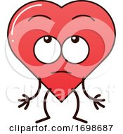 Poster, Art Print Of Cartoon Love Heart Character Rolling Its Eyes