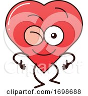 01/29/2020 - Cartoon Love Heart Character Winking