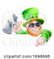 Leprechaun St Patricks Day Cool Cartoon Sign