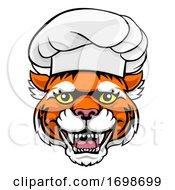 Tiger Chef Mascot Cartoon Character
